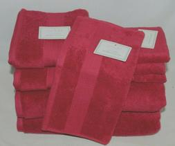 Hotel Luxury Linen Collection Cranberry Red Eight Piece Bath