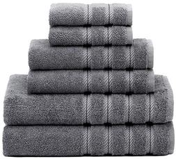 Hotel & Spa, 6 Piece Towel Set, 100 Genuine Turkish Cotton f