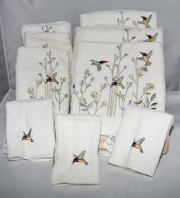 Avanti Linens Hummingbird Colibri Towel Sets  - 3 Sets  - NW