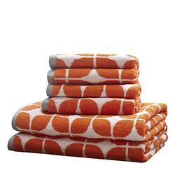 Lita Cotton Bathroom Towels , Jacquard Highly Absorbent Bath