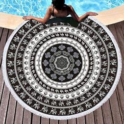 Sleepwish Indian Round Mandala Beach Towel Bohemian Large Ro