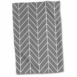 3dRose InspirationzStore patterns - Charcoal Grey herringbon