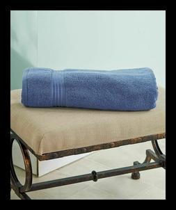 "BLUE / INDIGO  100% Cotton HUGE OVERSIZED Bath Towels - 34"""