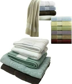 KASSATEX FINE LINEN BATHROOM BATH TUB MATS & HAND TOWELS 100