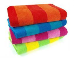 Kaufman Sales 4 Pc Pack Stripe Beach Towel by Ben