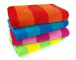 Kaufman Sales 4 Pc Pack Stripe Beach Towel by Ben Kaufman Sa