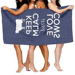 KAYERDELLE Unisex Keep Calm And Love Cow Beach Towels Washcl