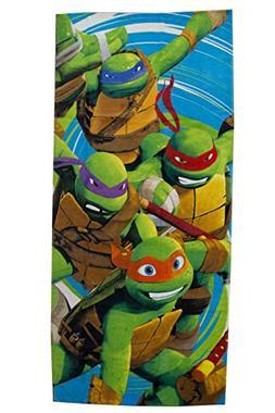 "NEW Nickelodeon Kid's 28""X58"" Tmnt Turtle Jump 100% Cotton B"