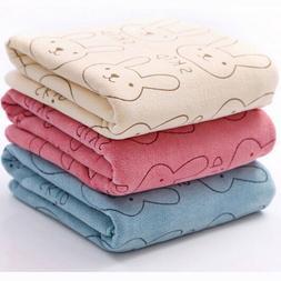 Kids Baby Soft Bath Towel Infant Cotton Rabbit Wash Shower T