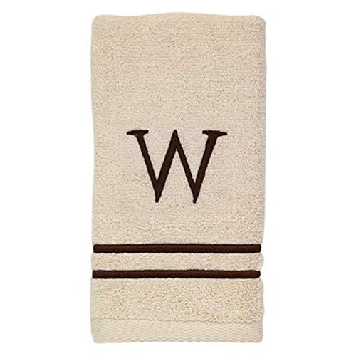 Avanti Linens 050876A Monogram Towel Ivory/Mocha