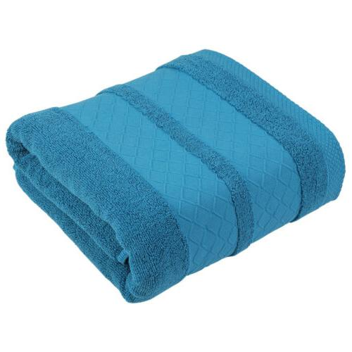 1/4 Pcs Solid Pure 100% Large Towels Soft Absorbent