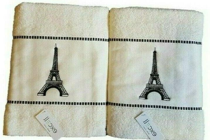 4 Towels Bath Set Paris Luxury Soft Towels Home Decor Bathro