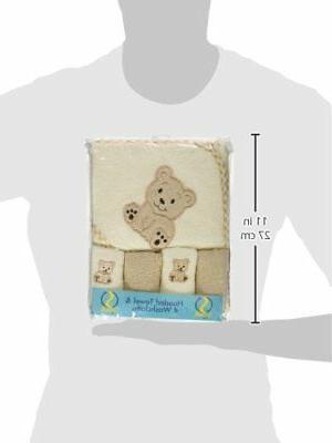 Spasilk 100% Terry Bath Towel 4 Washcloths,