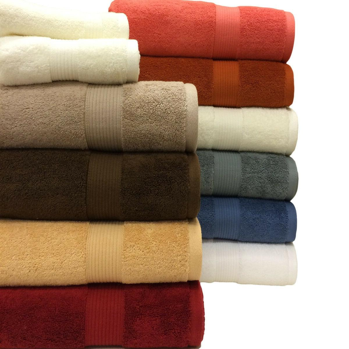 "100% Cotton Soft Solid 6PC Plush Towel Set, ""Bath Towel, Han"