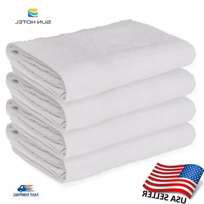 12 white bath towels sun hotel brand