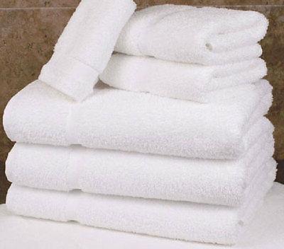 12 white cotton hotel bath towel large 27x54 *premium* st mo