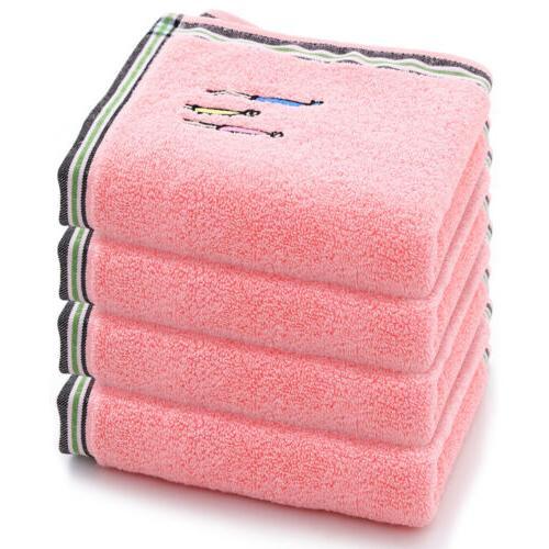 2/4/6pcs Towels Cotton Luxury Soft Face Towels Set