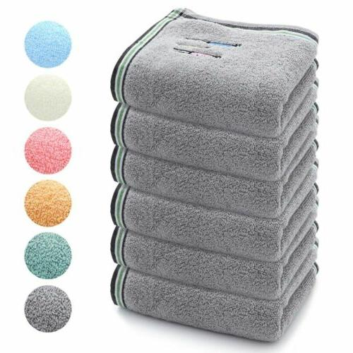 2 4 6pcs hand towels 100 percent