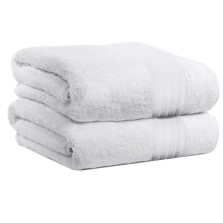 2 piece bath towels set for bathroom