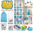 21pc SOMETHINGS FISHY Complete Fish BATH SET Shower Curtain+
