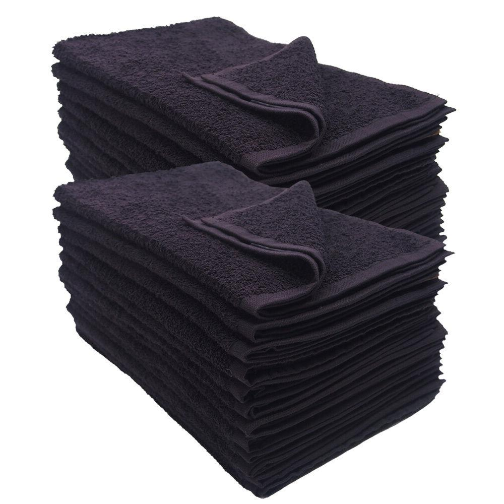 24 pack black 16x27 inches cotton salon