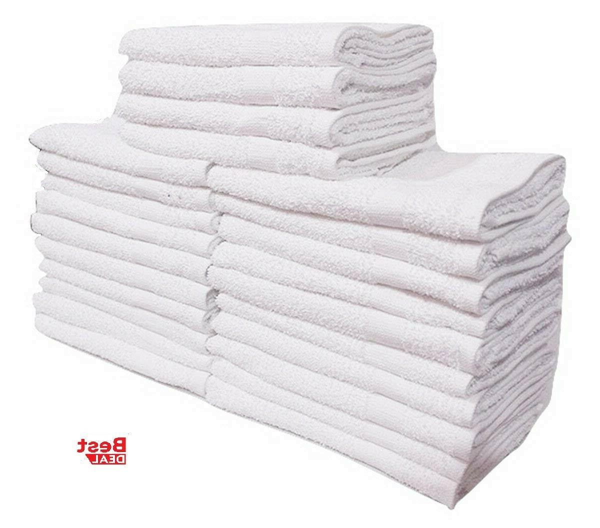 24 PACK HEAVY GYM TOWELS 100% COTTON x 27