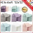 24 Pack Soft 100% Cotton Wash Cloths Hotel Washcloth Face Bo