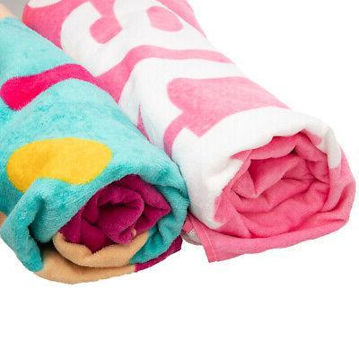"2 Pack x 62"" Beach Towel Set Soft Oversized Bath Towels"