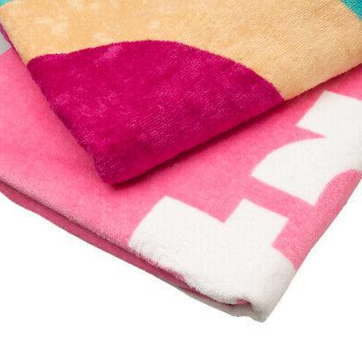 """2 Pack 62"""" Velour Towel Bath Towels"""