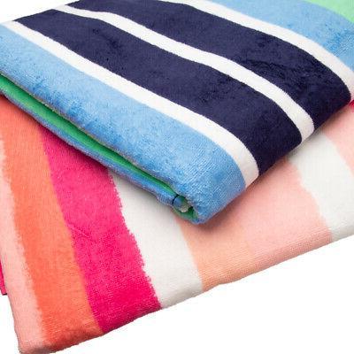 """2 Pack 62"""" Velour Towel Set Bath Towels"""