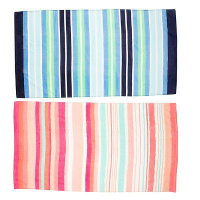 """2 Pack 62"""" Cotton Velour Towel Soft Bath"""