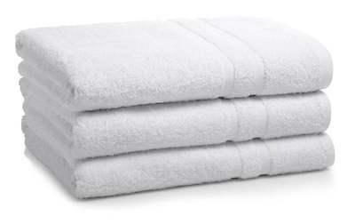 3 new cotton blend 22x44 white hotel platinum bath towels ho