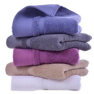 1xLuxury Soft Cotton Bath Towels SPA Home Bathroom Bathing Q