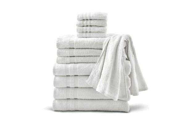 6 white collection 22x44 hotel towels natural