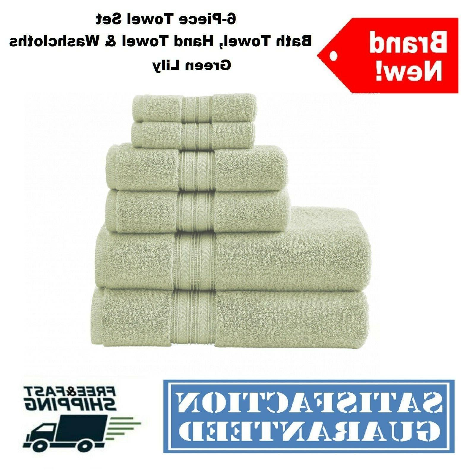 6-Piece Bath Hand Washcloths Soft