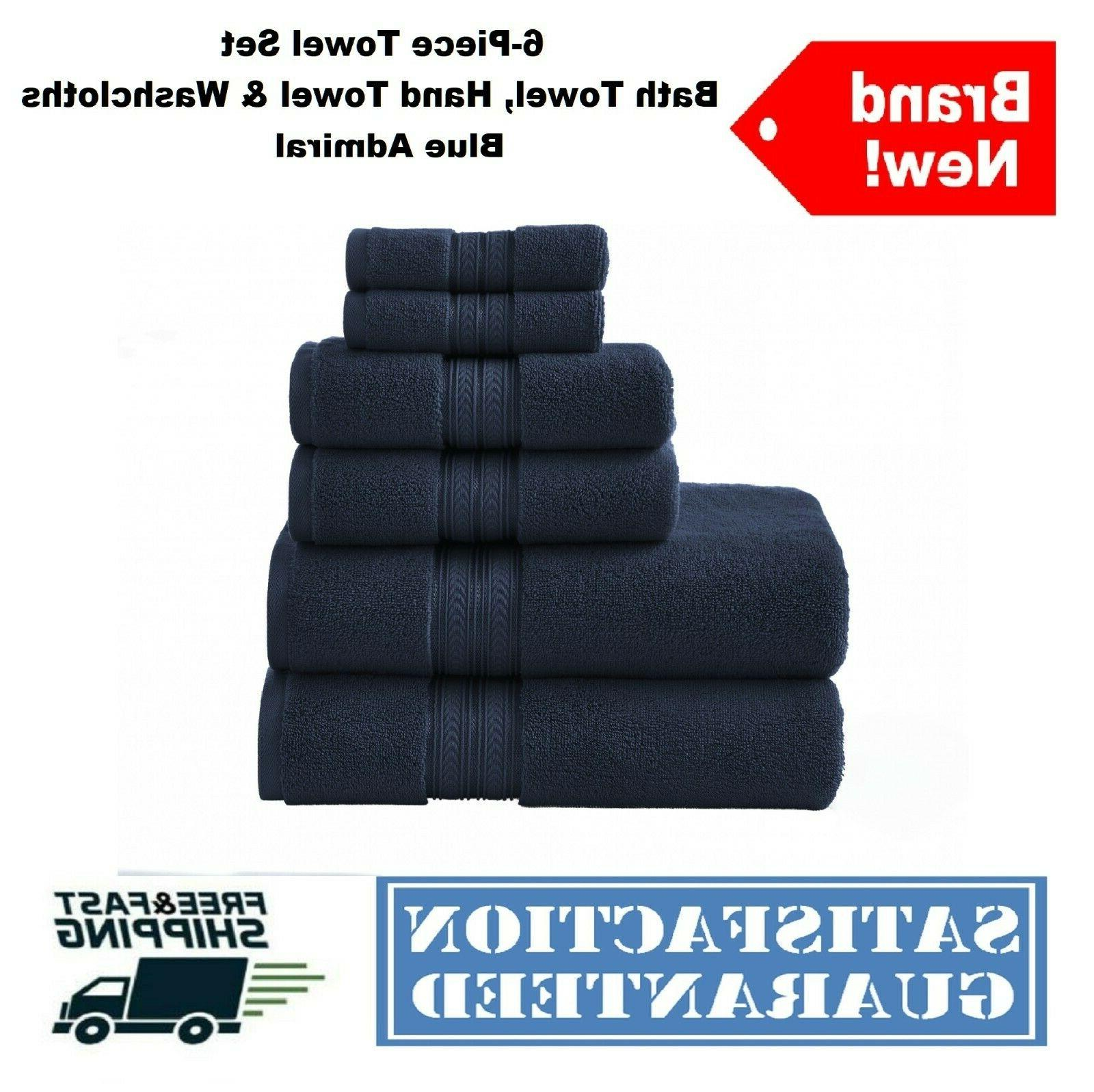 6-Piece Set Textured Bath Soft Cotton