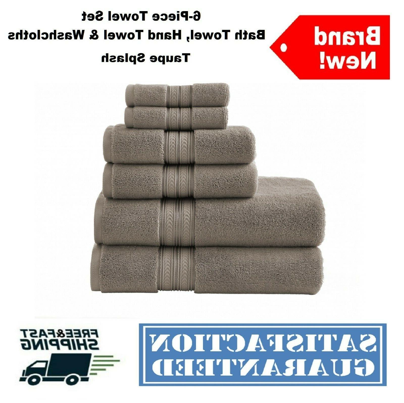 6-Piece Towel Set Bath Soft
