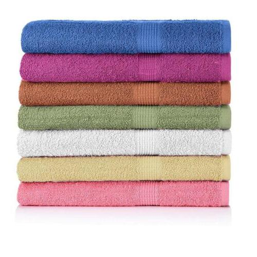 CrystalTowels 7-Pack Bath Towels - Extra-Absorbent - 100% Co