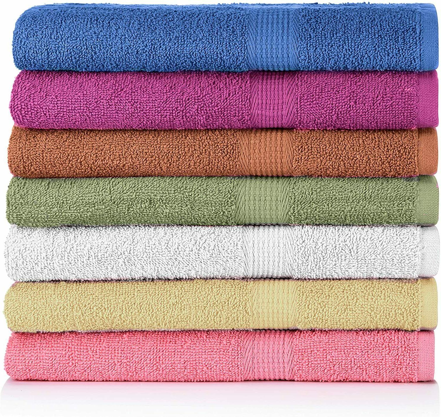 7 pack bath towels extra absorbent 100