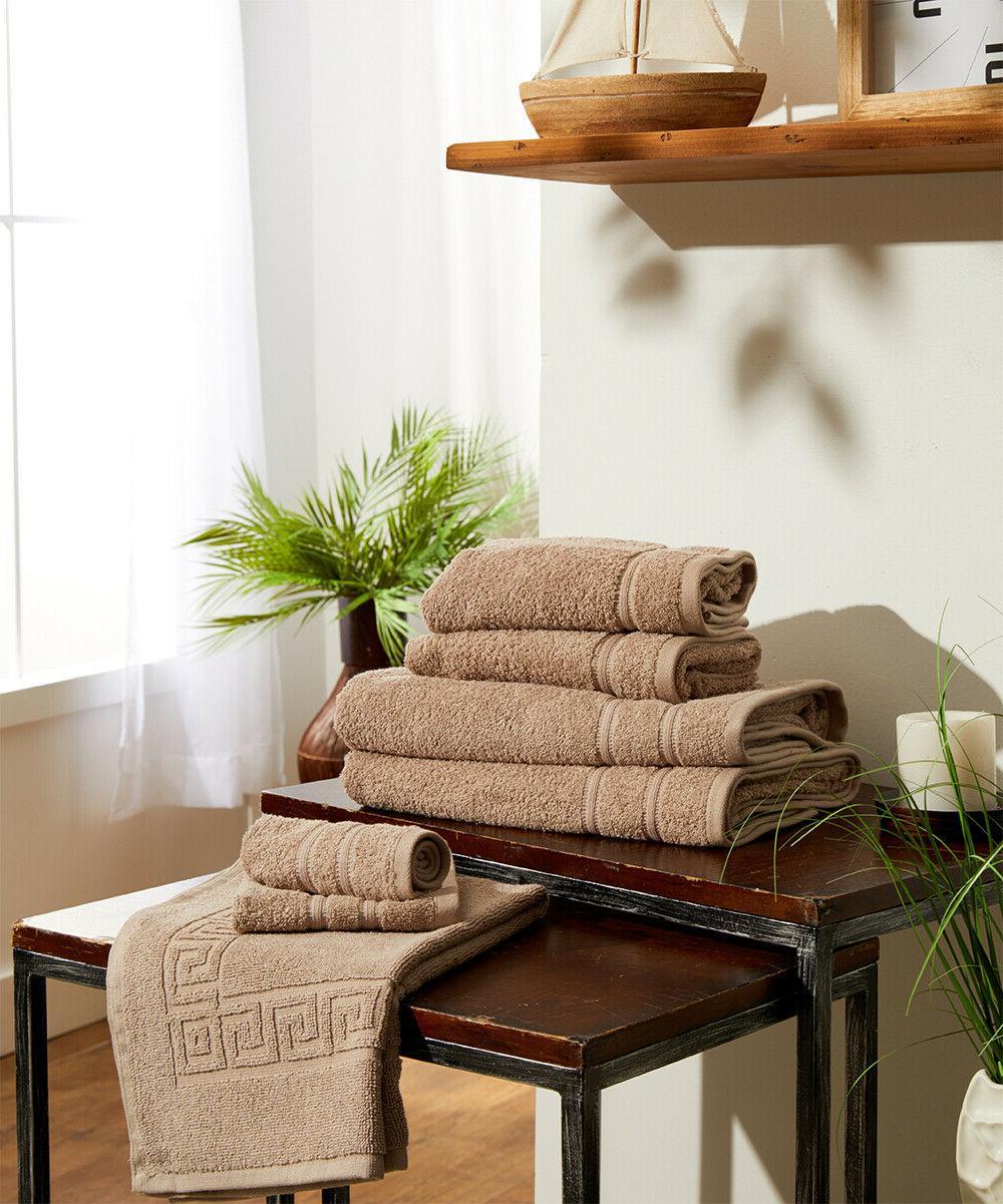 7 piece bath towel set bonus bath