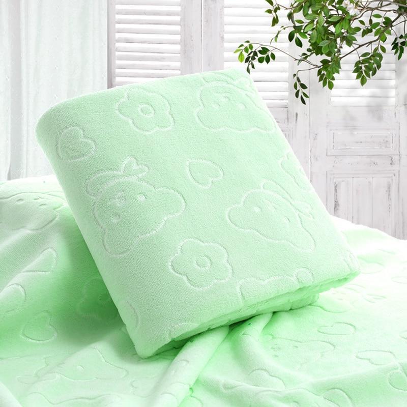 70X140CM Microfiber Bear <font><b>Bath</b></font> <font><b>Towels</b></font> Cotton <font><b>Towels</b></font> Kitchen Clean Solid Color