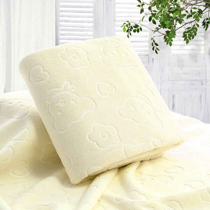 70X140CM Microfiber Bear <font><b>Bath</b></font> Cotton Dry <font><b>Towels</b></font> Kitchen Clean Absorbent Solid