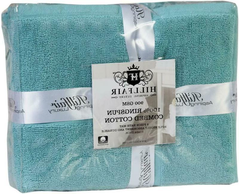 Hillfair Tub-Shower Bath Floor - Pack, Aqua, 21 Inc