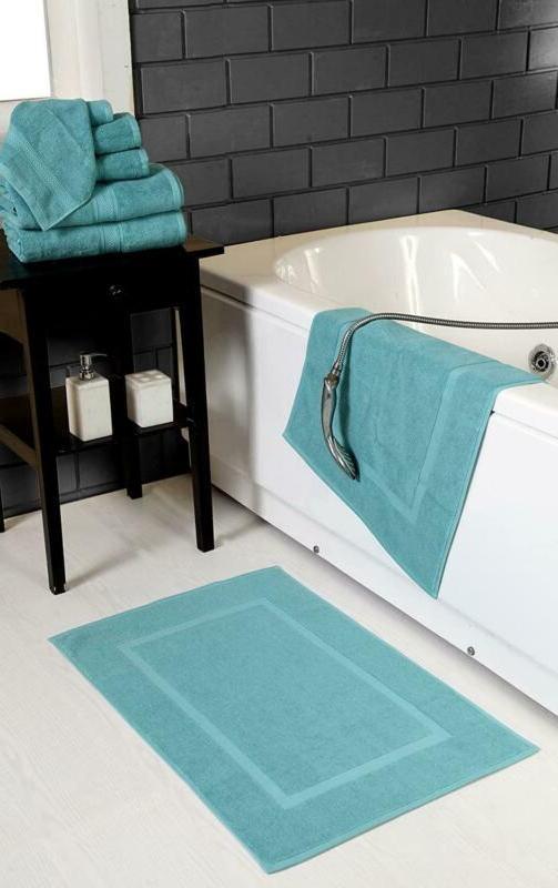 Hillfair 900 Gsm-Hotel-Spa Bath Mat Floor - (2 Pack, Aqua, 21