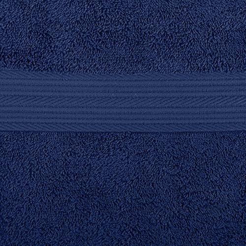 AmazonBasics Fade-Resistant Towel 6-Piece, Navy Blue