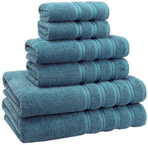 3 Piece Luxury Premium Long Lasting Hotel /& Spa 100/% Cotton Bath Towel Set