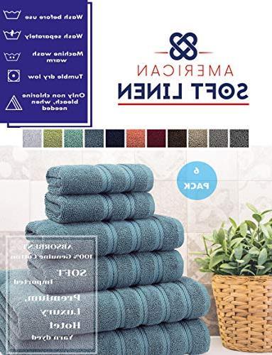 American Luxury Hotel & Quality, & Bathroom Turkish Set, Cotton Maximum Softness