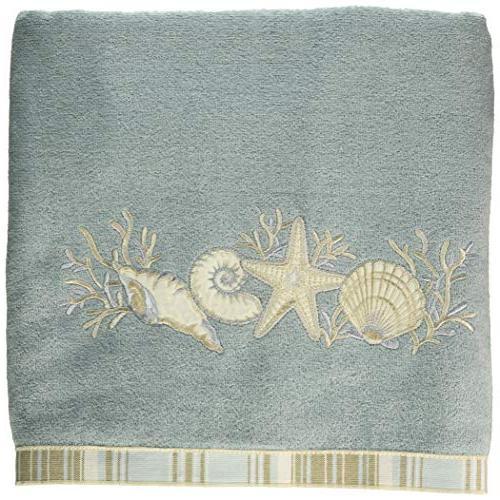 Avanti Linens 019681MIN Sand Shells Bath Towel, Medium, Mine