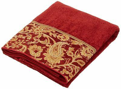 Avanti Linens Arabesque Hand Towel, Brick