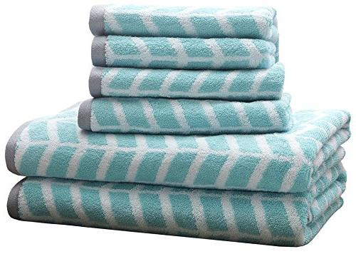 Intelligent Design Nadia Cotton Bathroom Towels, Jacquard Hi